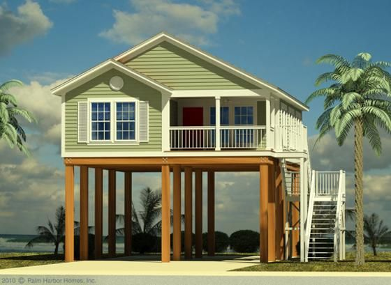 Houses on stilts on pinterest beach houses tree houses for Small beach house on stilts