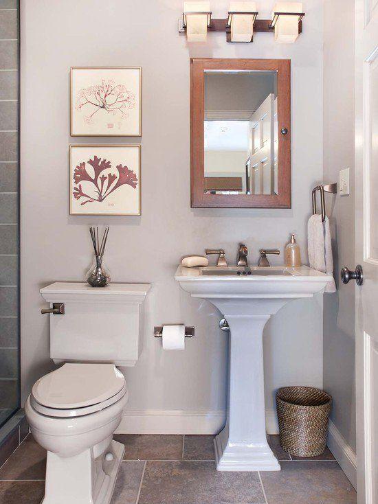Nice 27 Small And Functional Bathroom Design Ideas