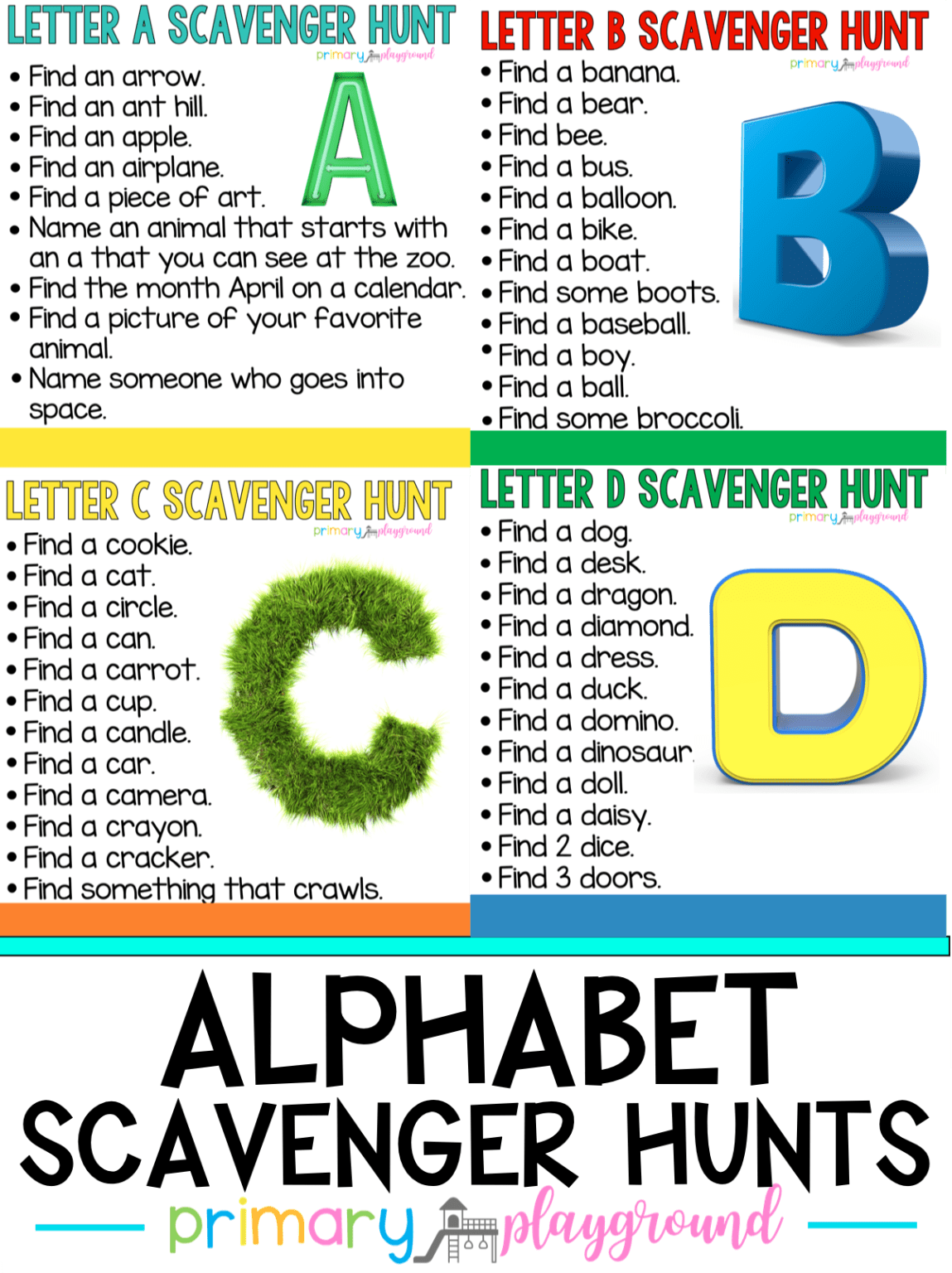 Abc Countdown Scavenger Hunts