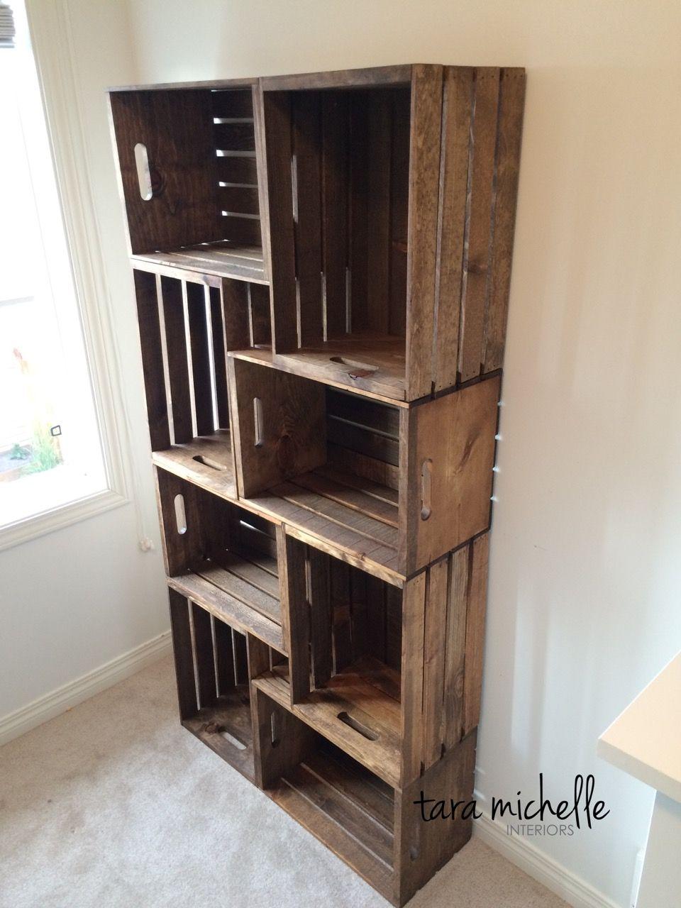 Comment Fabriquer Une Caisse En Bois comment fabriquer une bibliothèque tendance avec des caisses