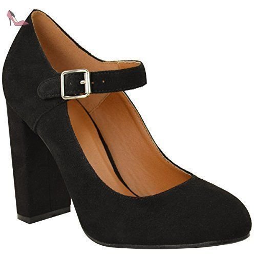 Chaussures à bout rond Fashion Thirsty noires Casual femme fBDNtp