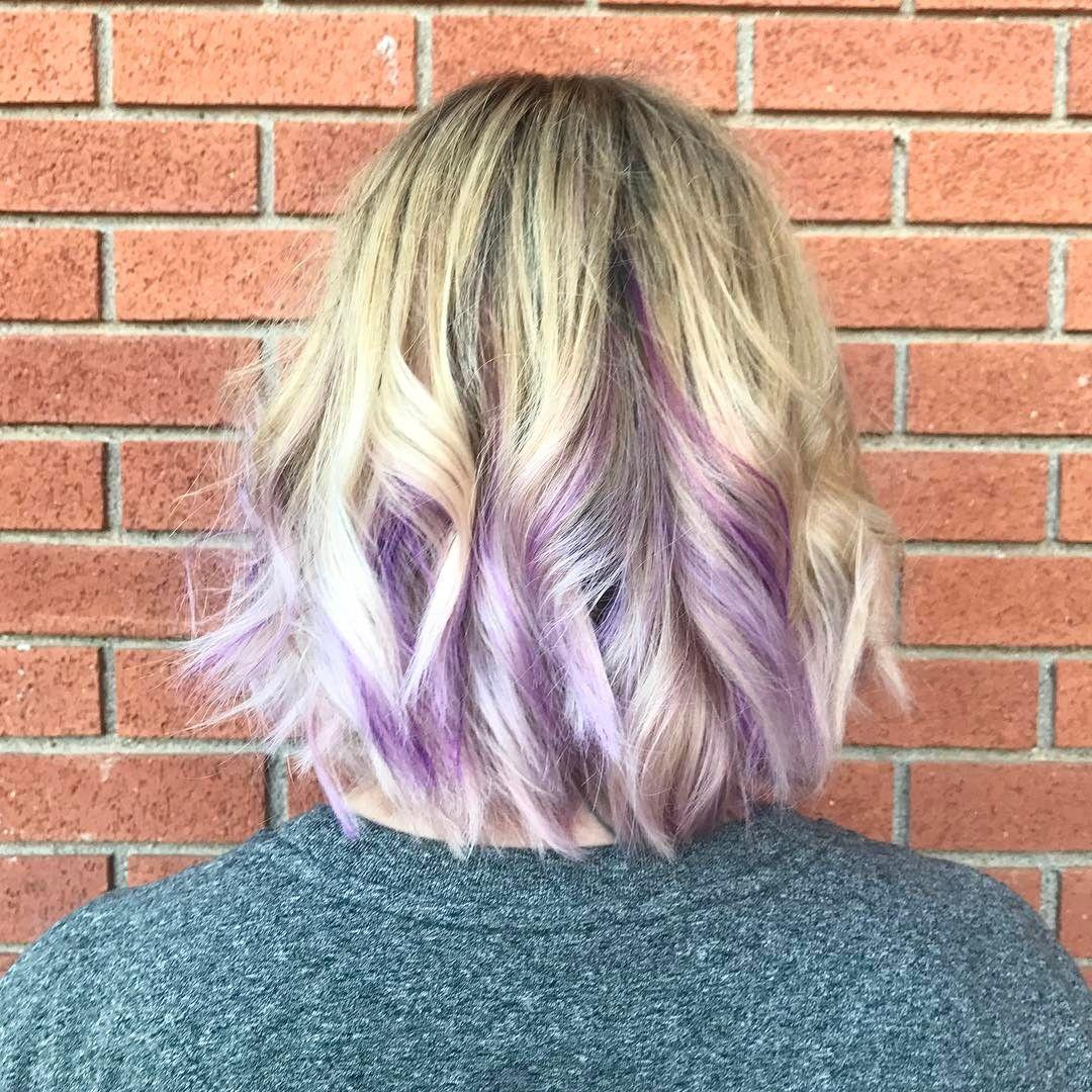 20 Trendy Hair Color Ideas 2020: Platinum Blonde Hair Ideas  platinum blonde hair purple ombre styles … in 2020 | Platinum blonde hair,  Stylish hair, Lob hairstyle