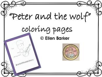 Peter And The Wolf Coloring Pages Coloring Pages Wolf Colors Musical Theme