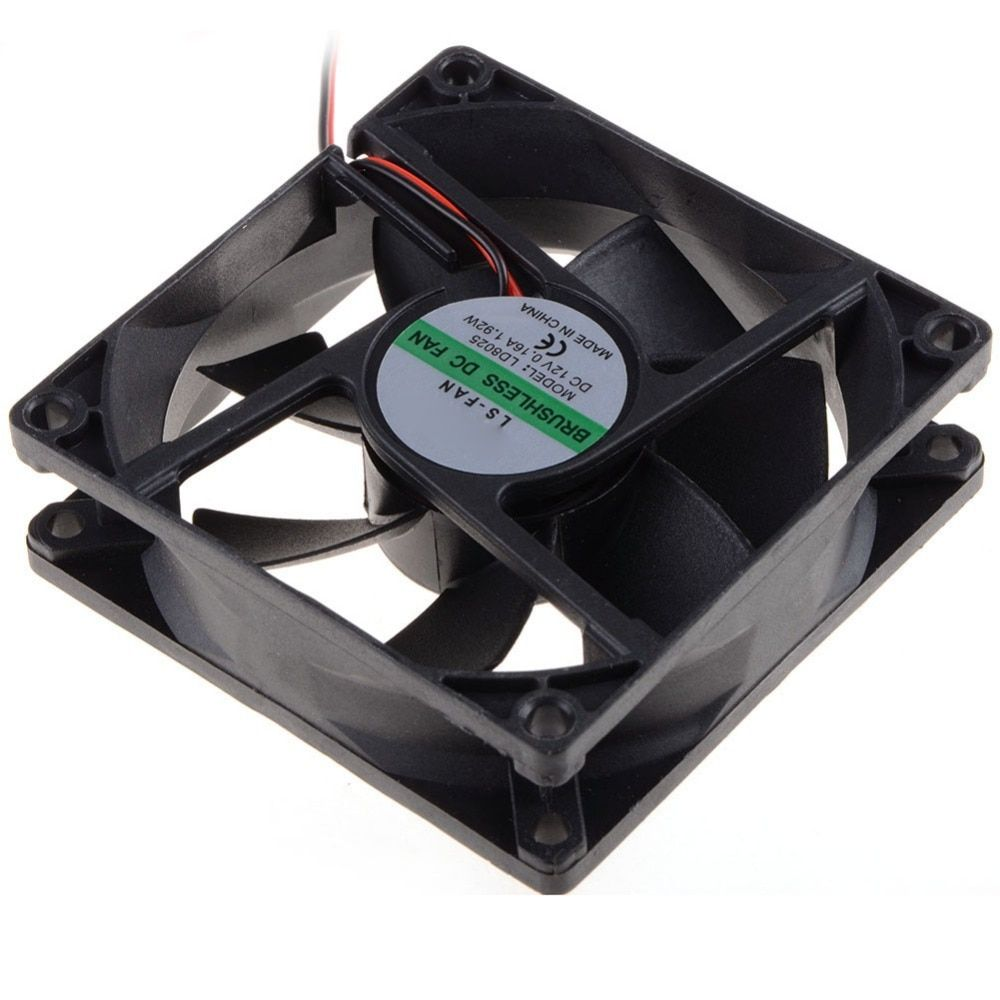 80 80 25 Mm Personal Computer Case Cooling Fan Dc 12v 2200rpm 45cm