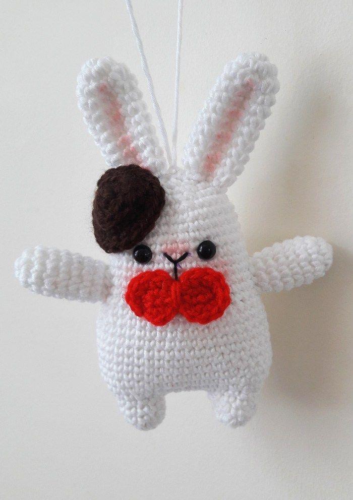 Gentleman Bunny amigurumi pattern | Crochet | Pinterest | Modelado ...