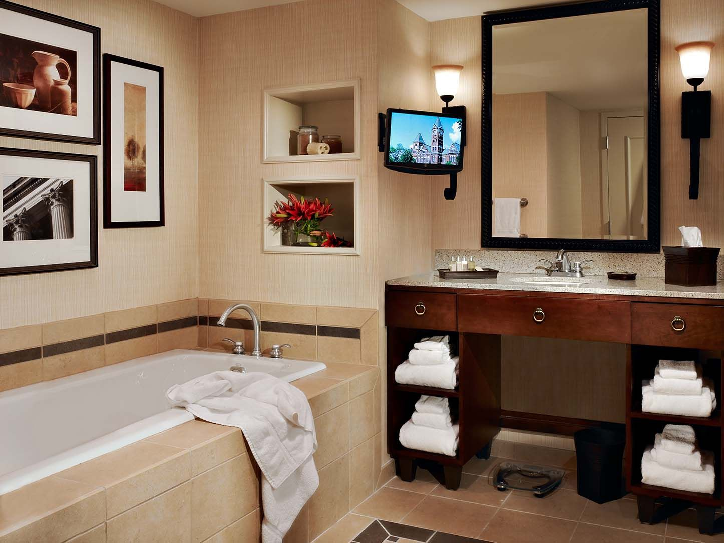 An Executive Suite Bathroom At The Hotel At Auburn University Www Auhcc Com Hotel Executive Suites Auburn University