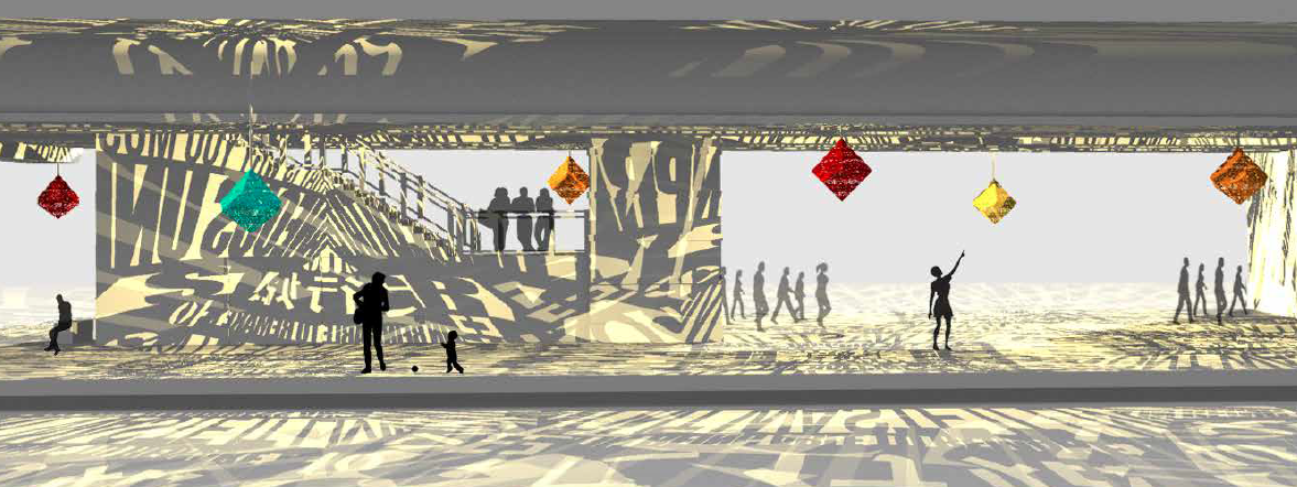 Rendering of Colfax Station artwork by Joe O'Connell of Creative Machines