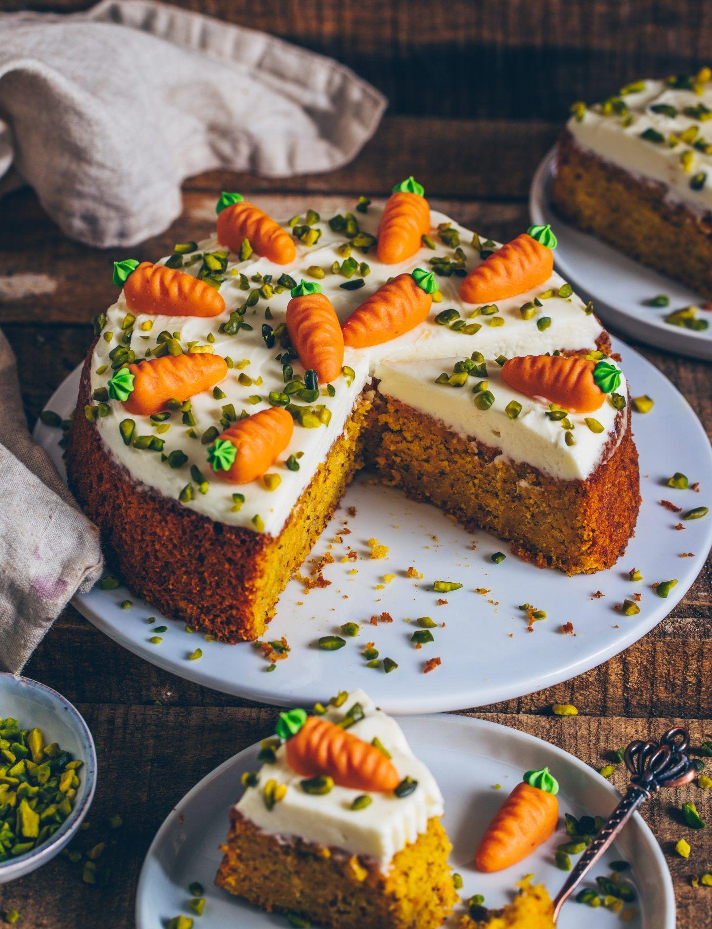 Karottenkuchen (Möhrenkuchen, vegan #lemonfrosting