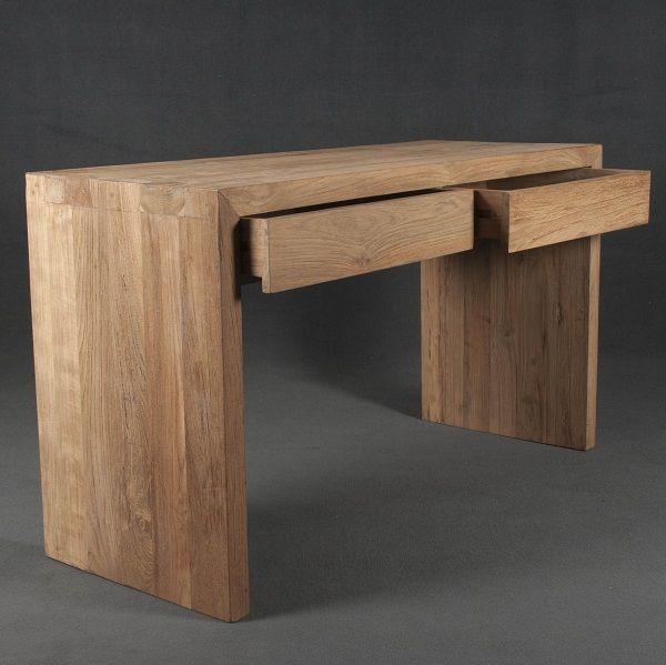escritorio de madera para trabajar en casa