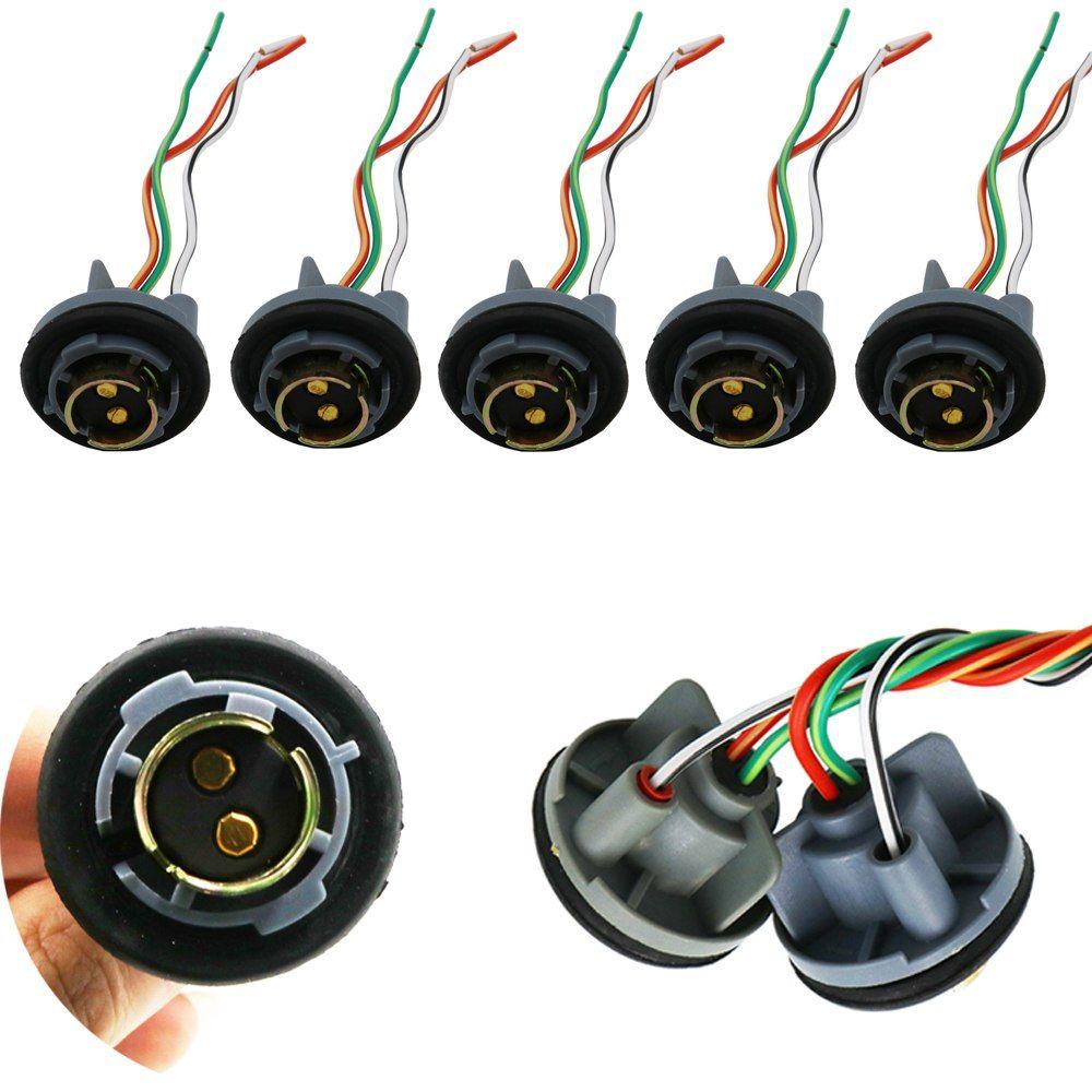 Y 50pcs 1157 Bay15d Female Connector 10cm Band Iron Car Light Cable Py21 5w Automotive Bulb Socket Led Bulbs Wire Led Bulb Car Lights Bulb