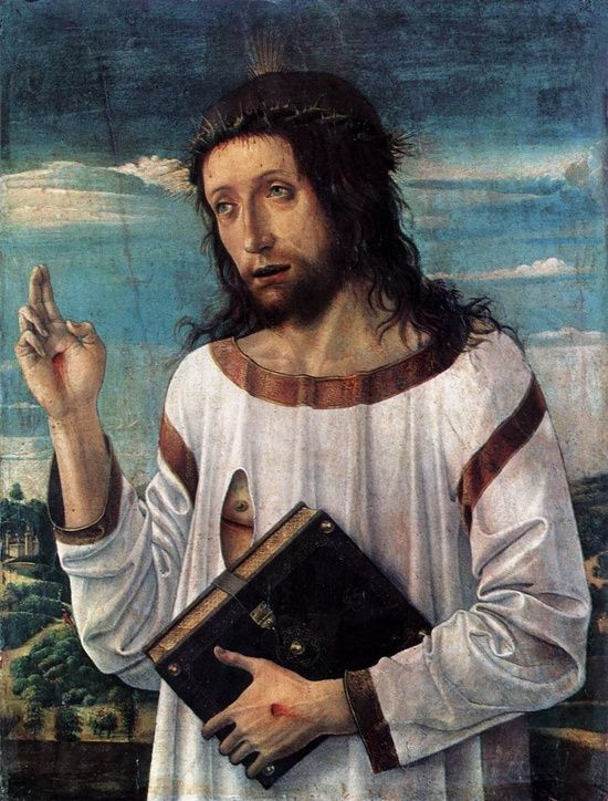 GIOVANNI BELLINI CRISTO BENDICIENDO 1460