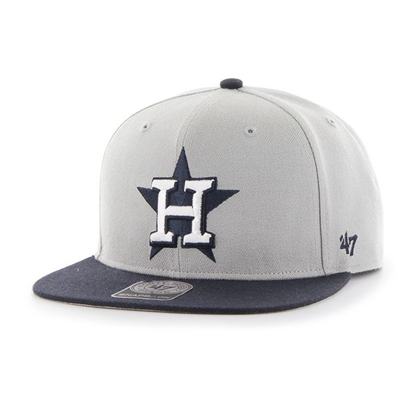 new styles 2f122 734c5 Houston Astros Sure Shot Two Tone Captain Gray 47 Brand Adjustable Hat