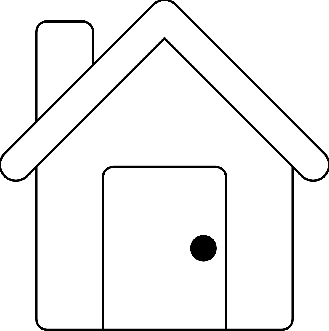 Home Clip Art Black And White Clipart House Outline Art House Clipart