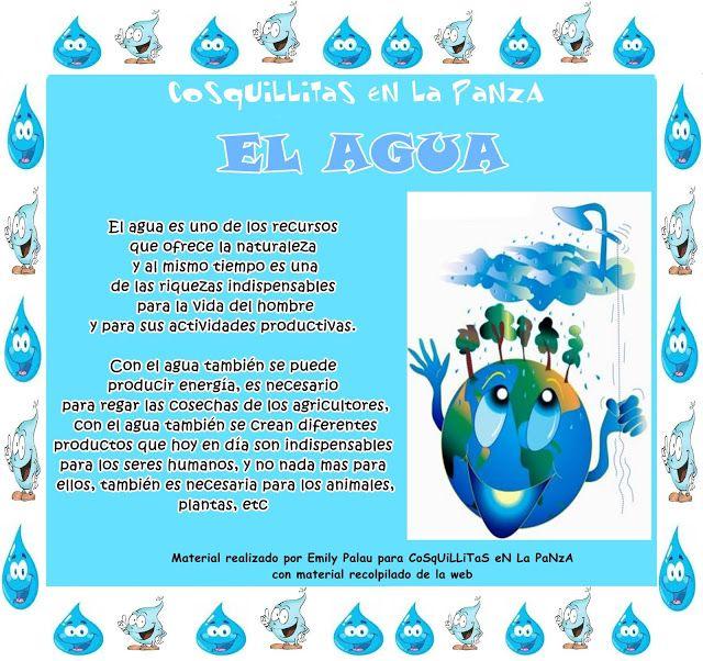 El Agua Con Actividades Y Dia Del Agua La Tierra Para Niños Importancia Del Agua Agua