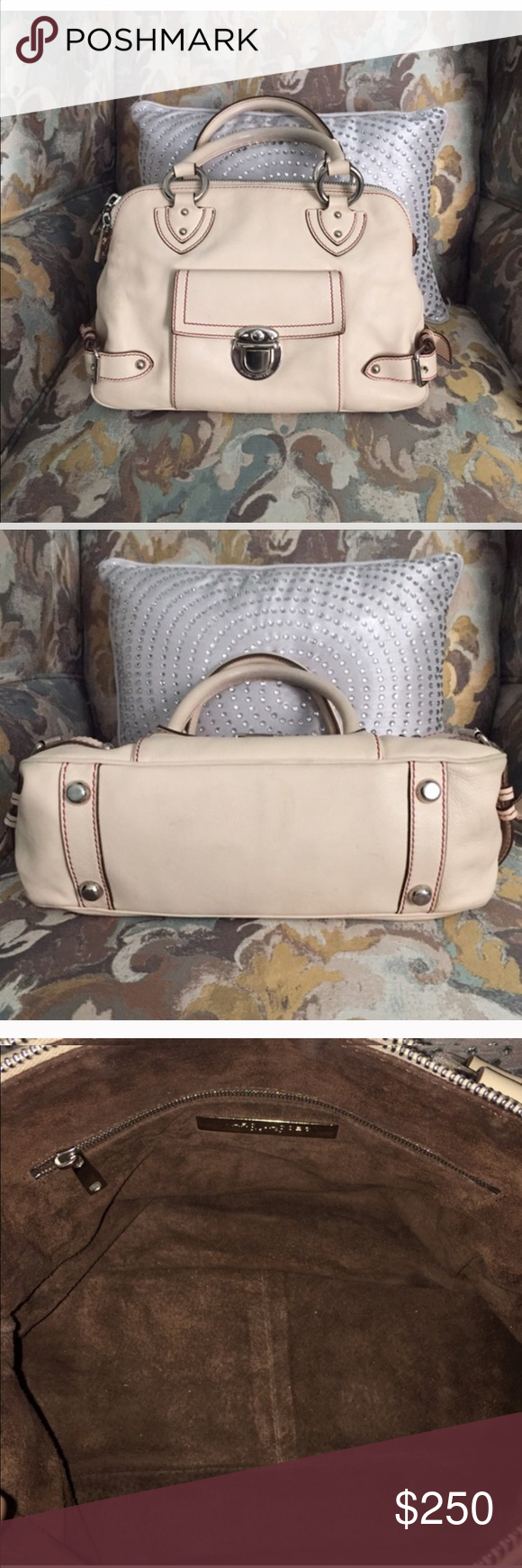 Authentic Marc Jacobs satchel. Re-Poshing was too small I like huge bags. That being said it is a Medium sized satchel. Marc Jacobs Bags Satchels