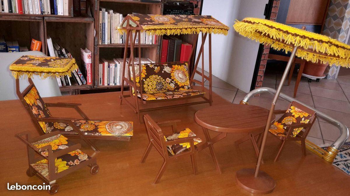 Salon de jardin vintage année 70 pour Barbie Jeux & Jouets Dordogne ...