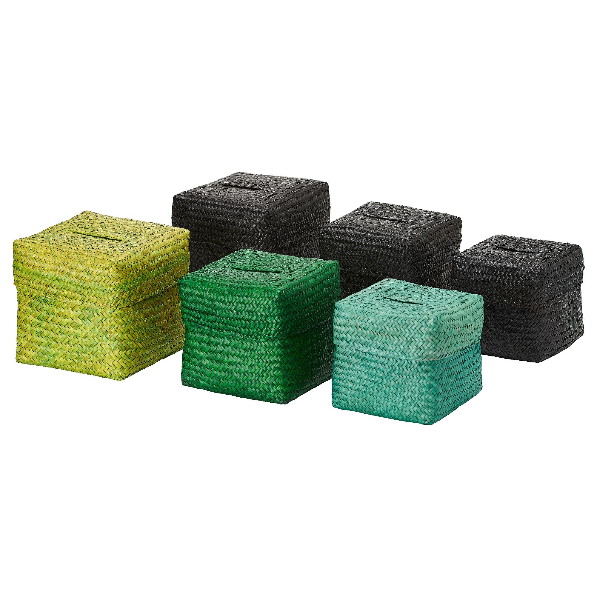 NIPPRIG 2015 Box with lid, set of 3 - assorted colors - IKEA