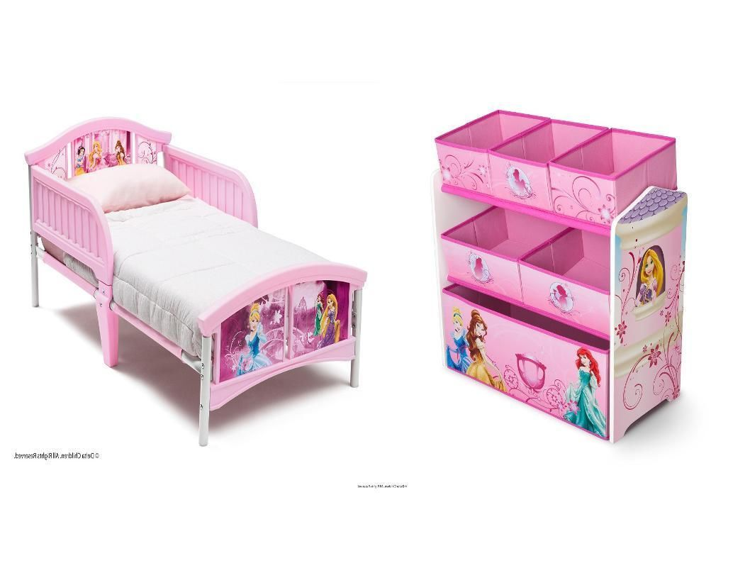 Disney Princess Toddler Bed Toy Storage Bin Canopy Organizer Kids Toy Box  Set - Disney Princess Toddler Bed Toy Storage Bin Canopy Organizer Kids