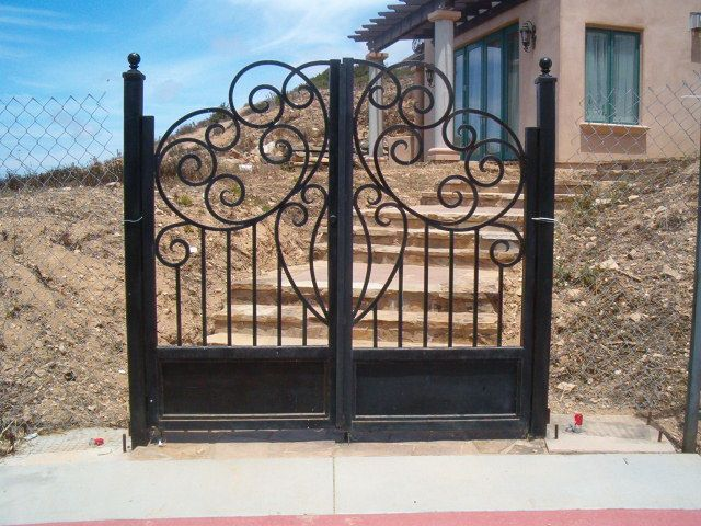 Ornamental iron gates gate custom walkway handmade