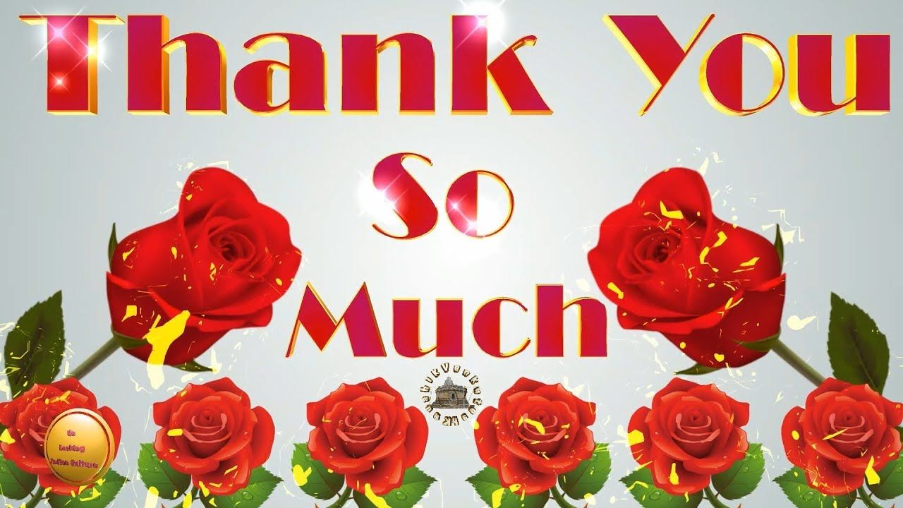 Thank You Wishes Whatsapp Videogreetingsanimationecardnice