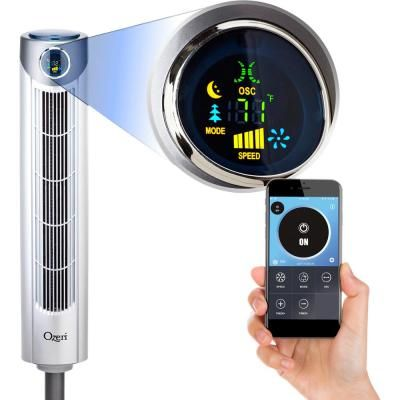 Ozeri Ultra 42 Oscillating Tower Fan With Bluetooth And