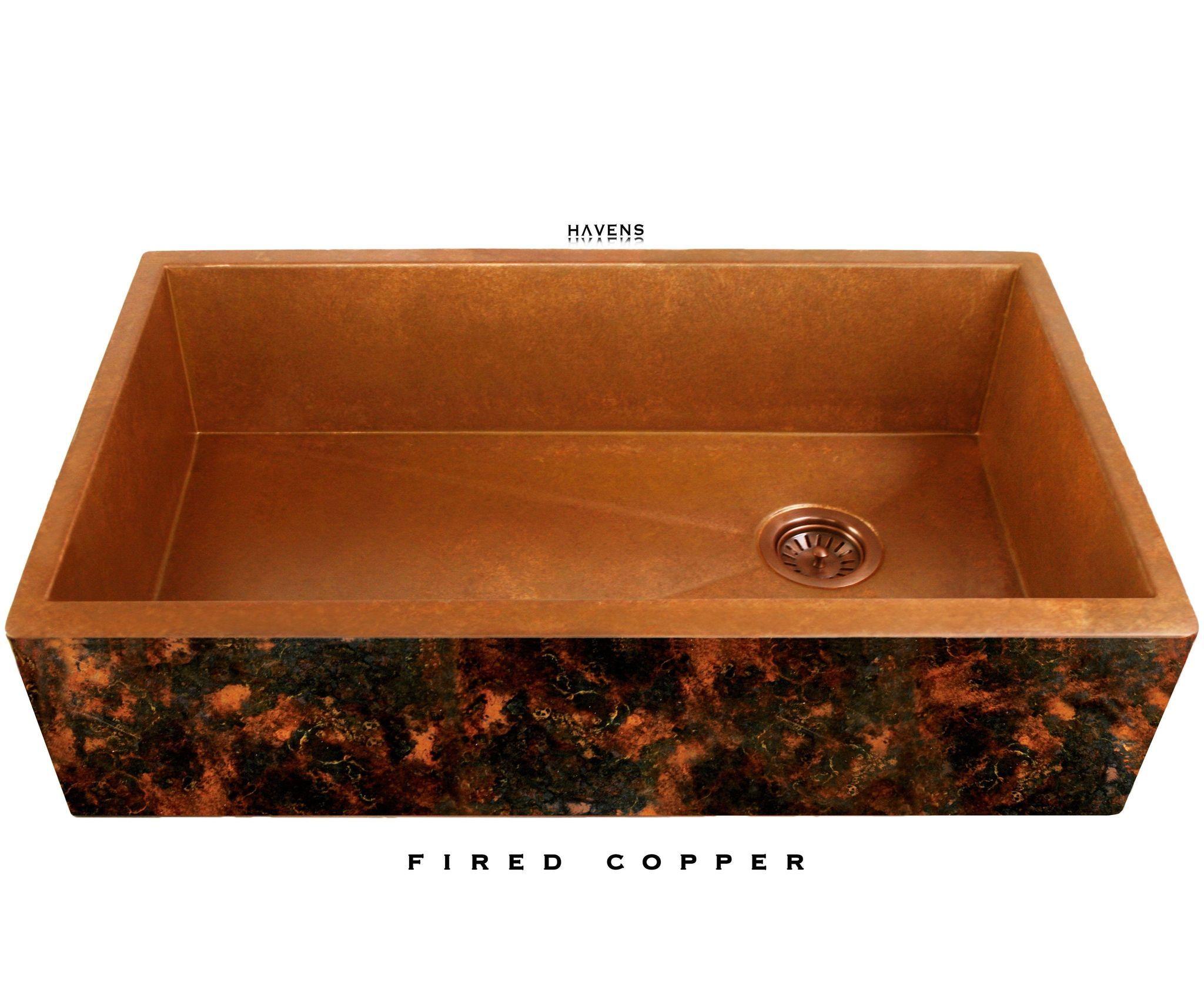 Heritage Copper Farmhouse Sink With Premium Apron Artwork Copper