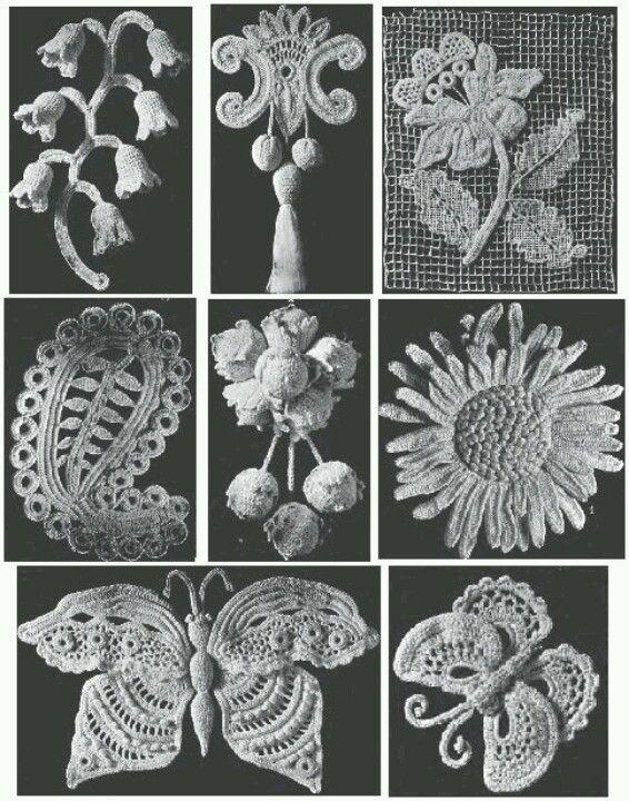 Old irish crochet motif patterns
