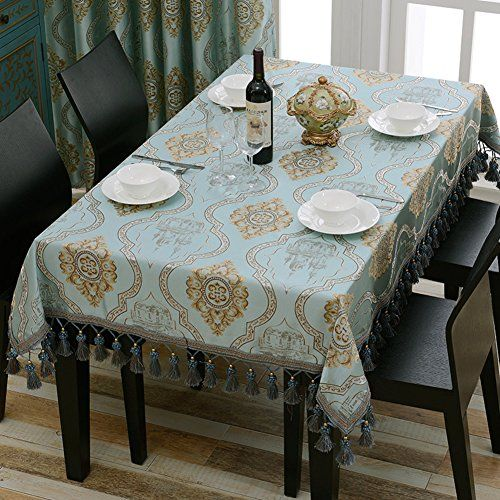 European Style Tablecloth Coffee Table Cloth Green Rectangular