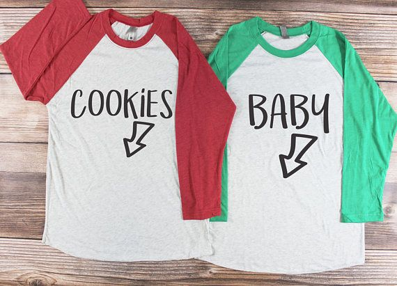 c749a0e49055e Couples Christmas Pregnancy Announcement Shirt | These cute holiday t-shirts  are perfect for a couple who is pregnant during the Christmas winter  holiday ...