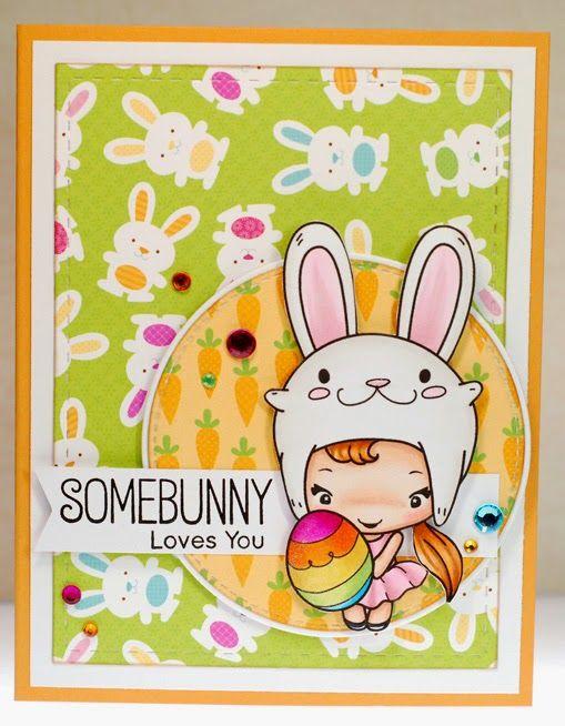 Easter Bean digital stamp