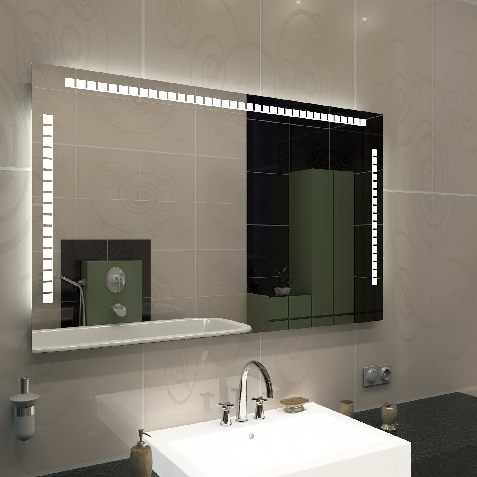Ayna Ve Banyo Aynalari Fiyatlari Ayna Modelleri Com Badspiegel Spiegel Mit Beleuchtung Und Spiegel