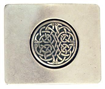 Square Celtic Buckle by LeeRiverLeather on Etsy, $35.00