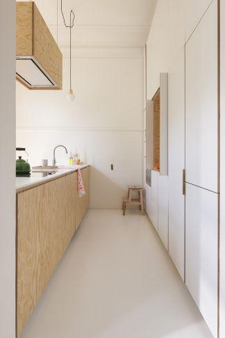 wit   hout   keuken   eiland   modern   strak   design   licht ...