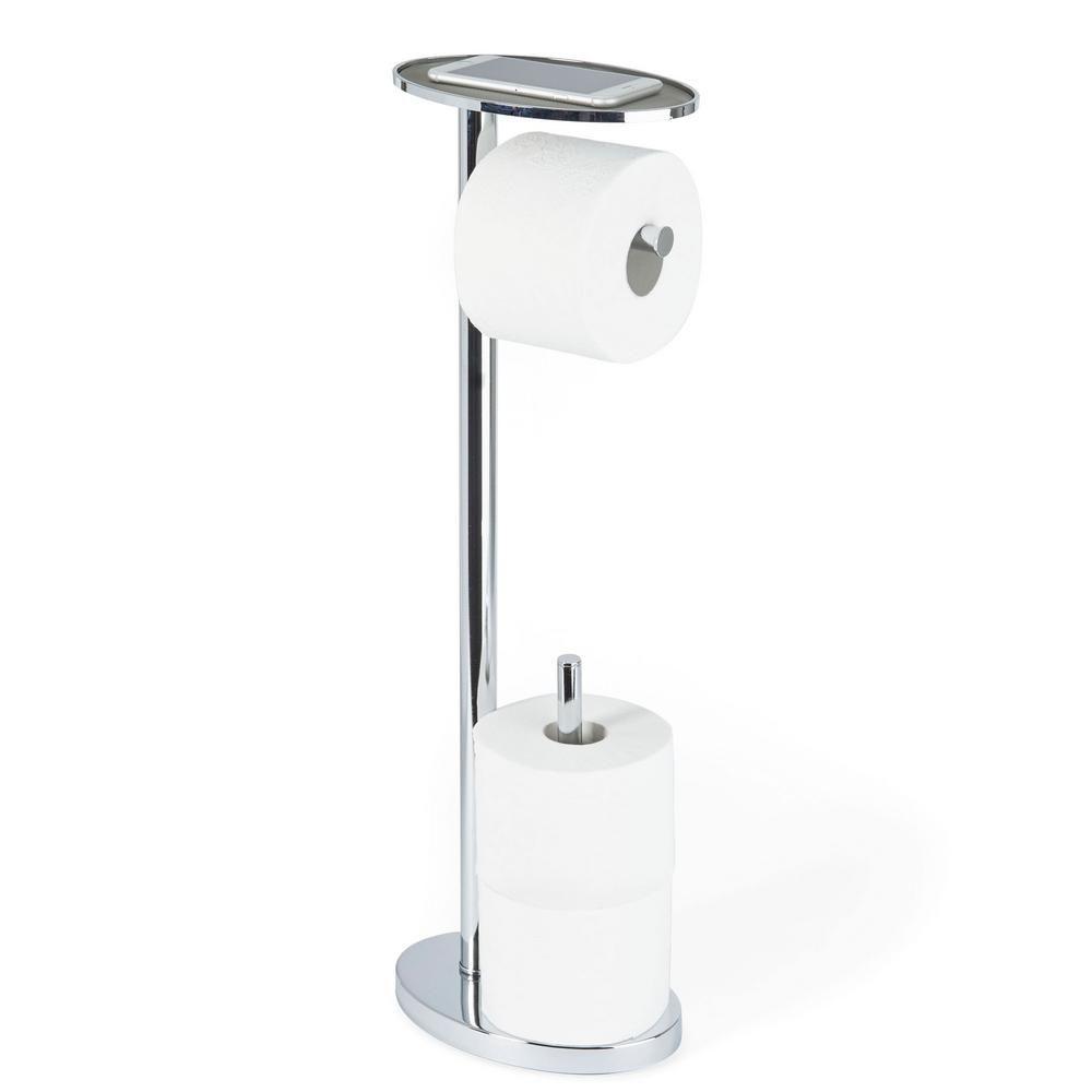 Better Living Ovo Toilet Caddy Toilet Paper Holder In Chrome Grey Toilet Paper Holder Toilet Paper Better Living