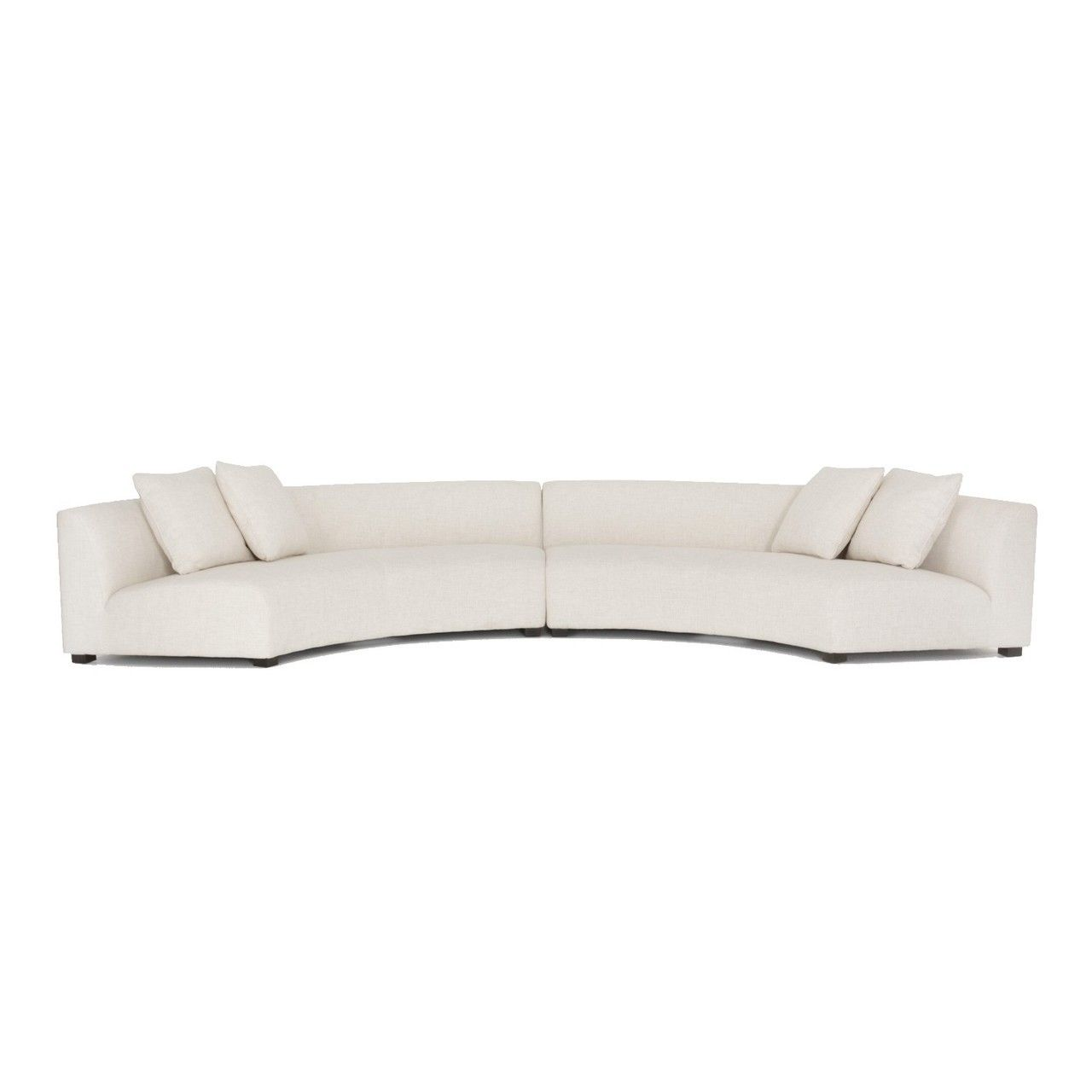 Liam Modern Cream 2 Piece Curved Sectional Sofa Curved Sectional Sectional Sofa Leather Sectional Sofas