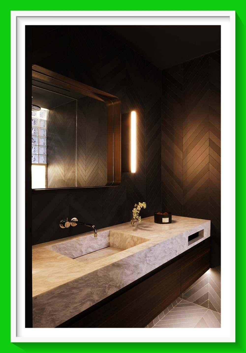 Photo of Trendy master bathroom provision.