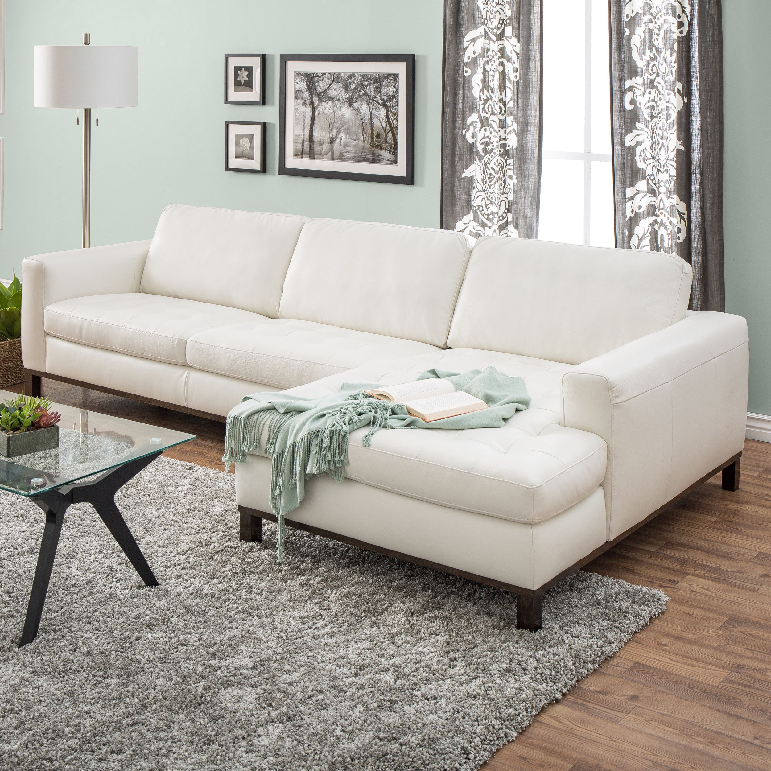Overstock Com Online Shopping Bedding Furniture Electronics Jewelry Clothing More White Leather Sofas Cream Leather Sofa Living Room White Leather Couch