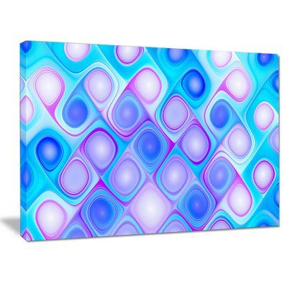 """DesignArt 'Dense Blue Pattern with Swirls' Graphic Art on Canvas Size: 30"""" H x 40"""" W x 1"""" D"""