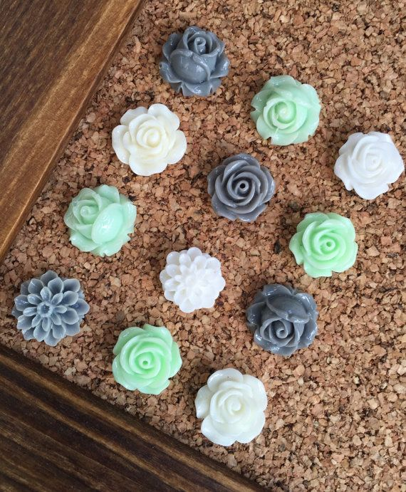Push Pins, Decorative Tacks Set, Mint Green Decor, Teenage Girl ...
