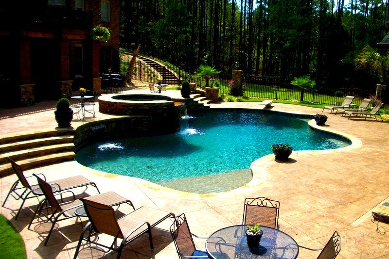 Custom built swimming pool by Brown\u0027s Pools  Spas of Douglasville