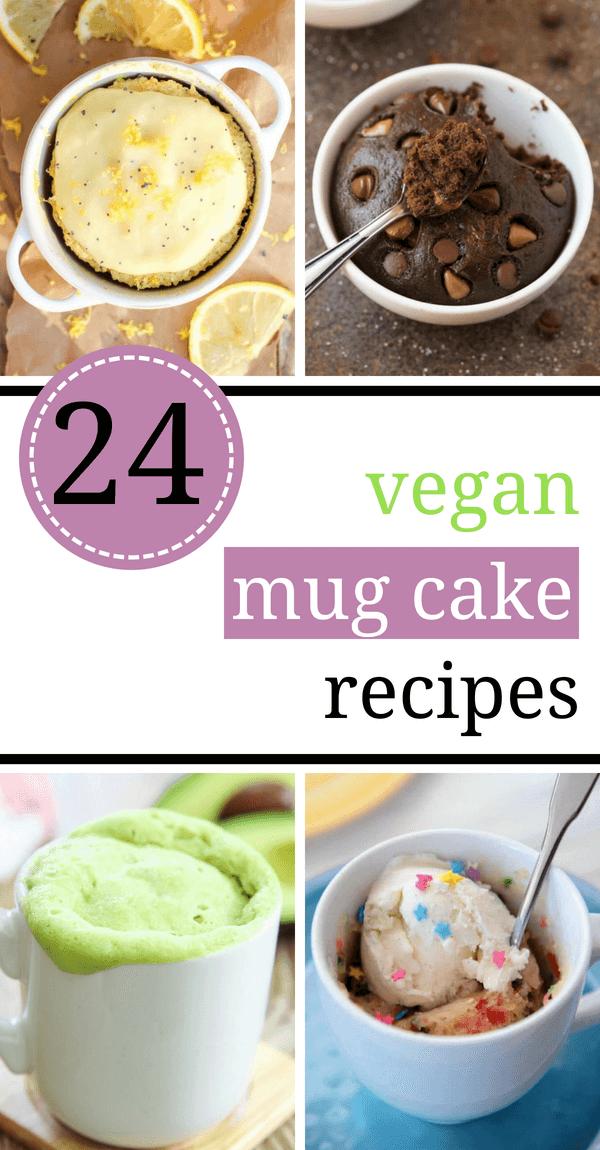 24 Easy Vegan Mug Cake Recipes in The Microwave in 2020 ...
