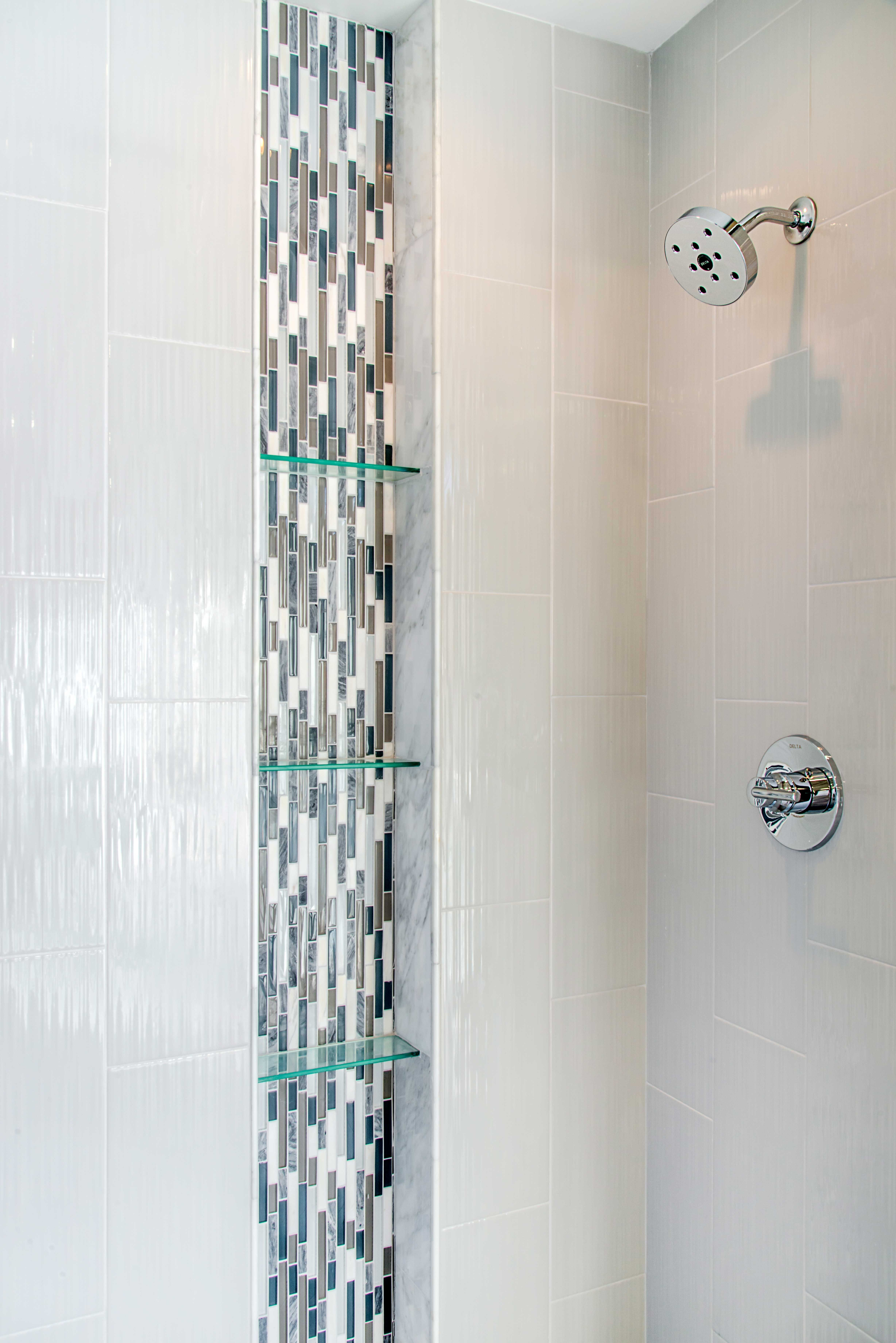 Cool and refreshing, this contemporary mosaic tile is perfect for ...