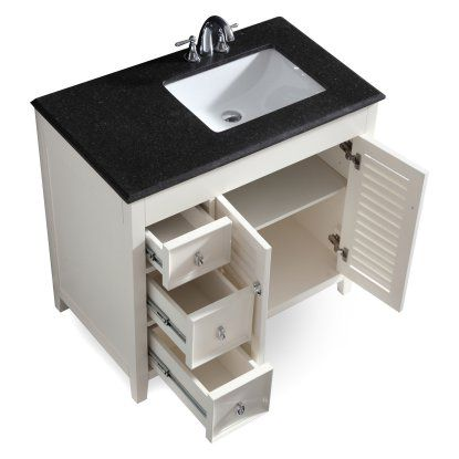 Simpli Home Adele 36 In Bath Vanity With Right Offset Sink