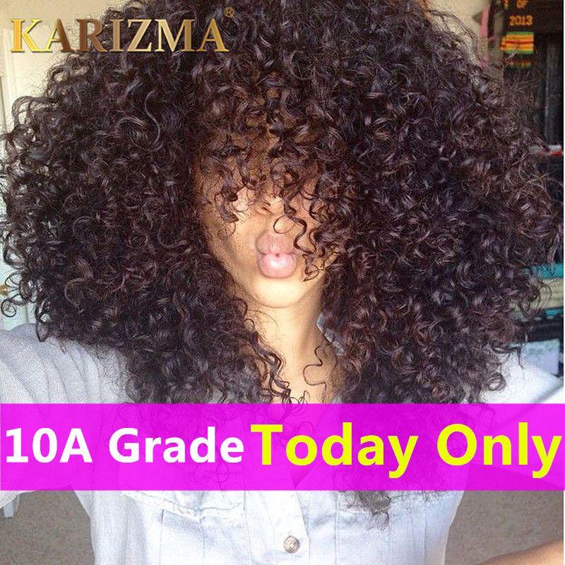 10A 브라질 곱슬 곱슬 처녀 머리 3 번들 아프리카 킨키 곱슬 머리 브라질 처녀 머리 처리되지 않은 곱슬 직조 인간의 머리