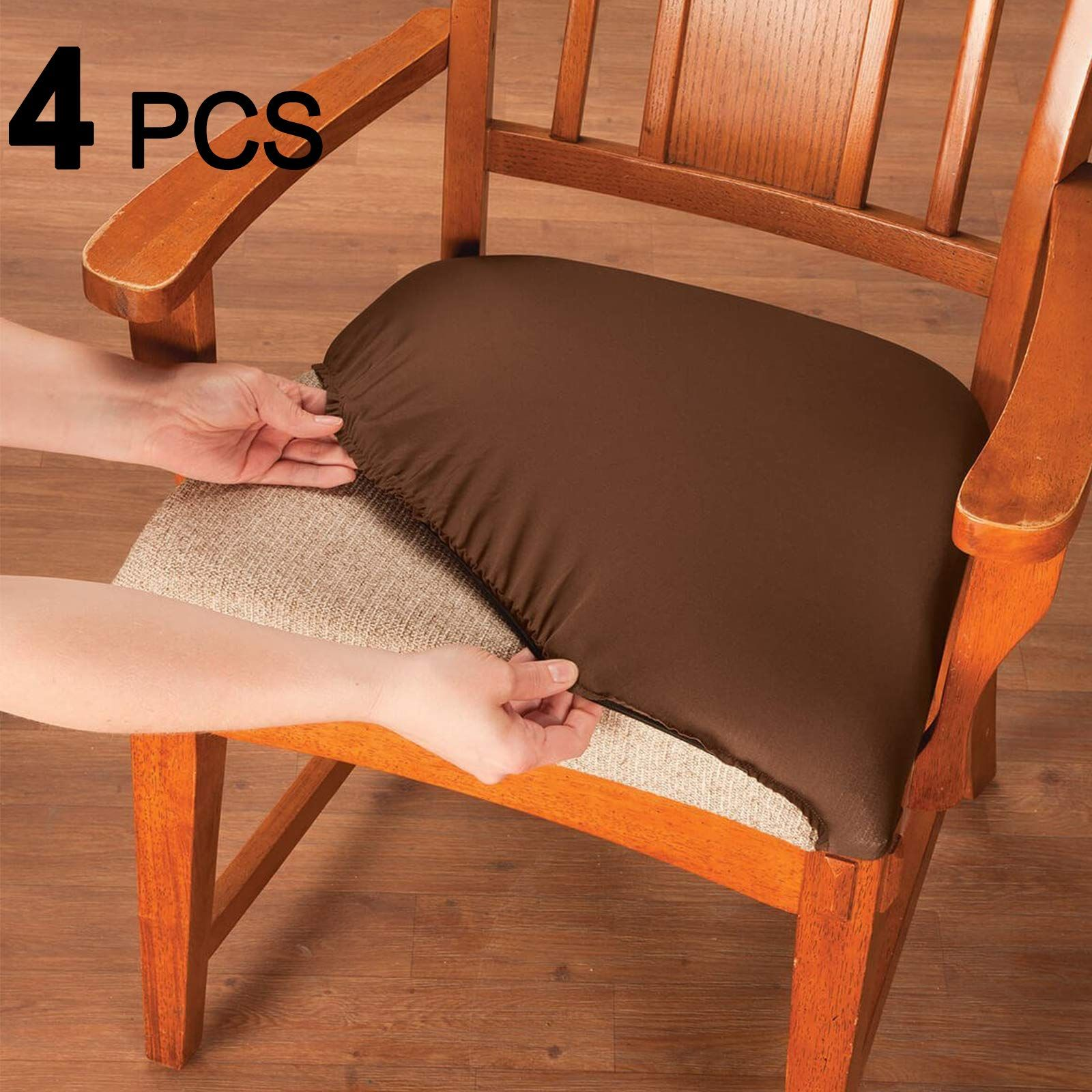 Voilamart Dining Chair Seat Covers Stretch Removable Washable
