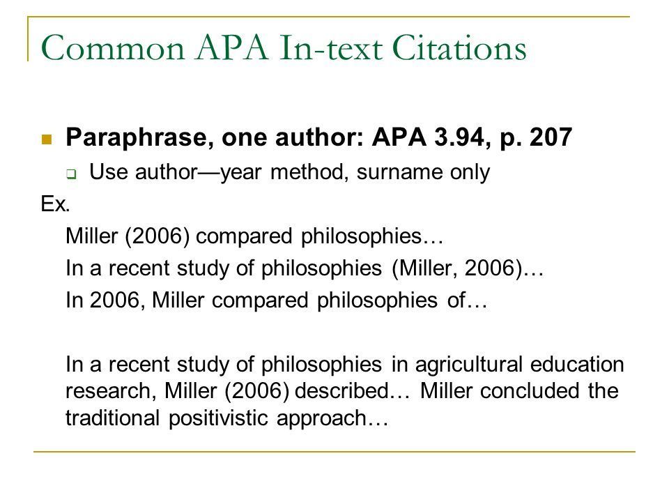 Alec 681 Seminar Apa Style In Text Citation Objective Best Quote Block Quotes How To Paraphrase And Cite