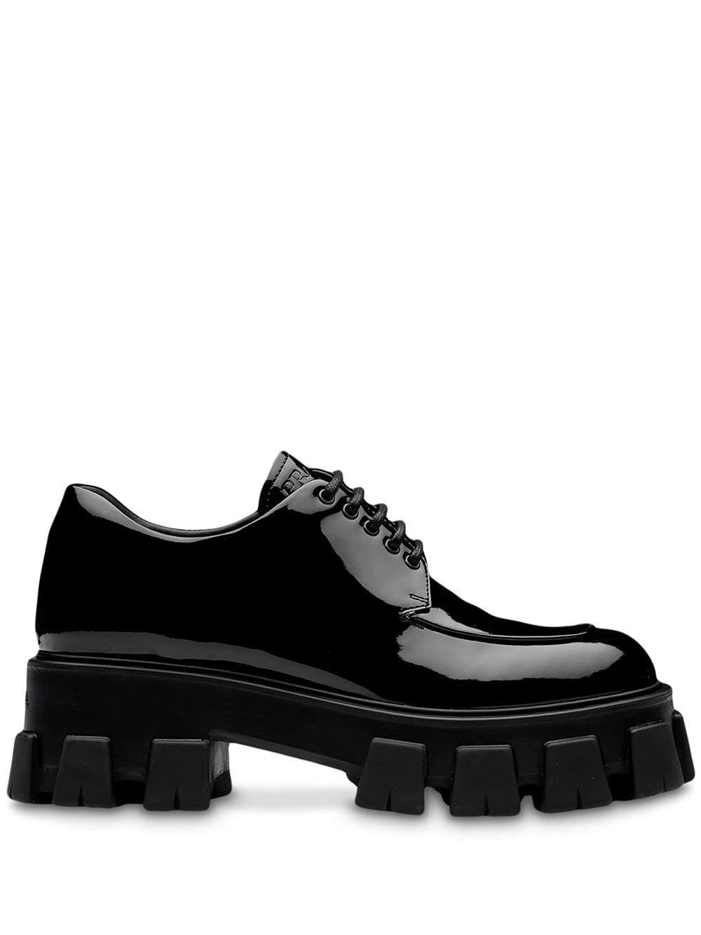 Prada Platform Derby Shoes - Farfetch