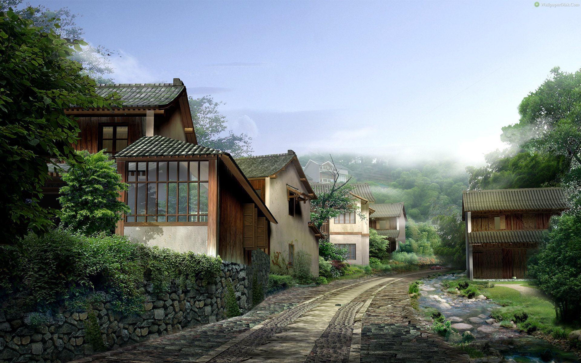 Best japan villages 29 desktop wallpapers background for Japanese wallpaper home