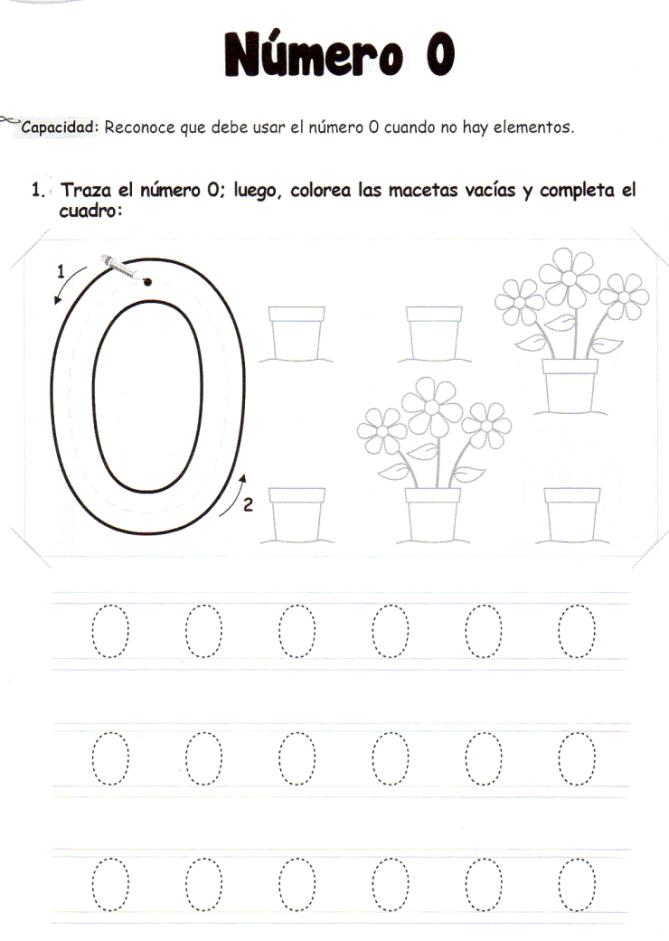 El número 0: 5 años - Material de Aprendizaje | atividades numerais ...