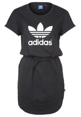 768a1f9da4 adidas Originals TEE DRESS - Jerseykleid - black - Zalando.de ...